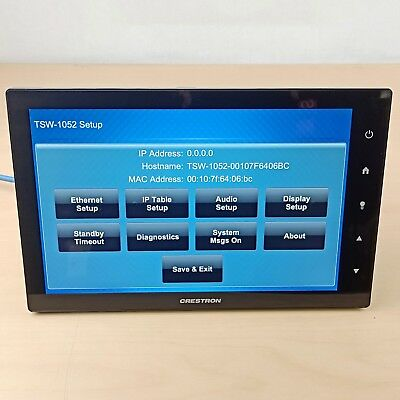 "✅Crestron TSW-1052-B Touch Screen 10.1"" Touch Screen, Black Smooth"