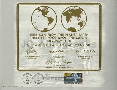 "Apollo 11 - First Day Issue Postage Certificate - ""Moon Landing"" - 1969"