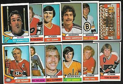 1974-75 Opc O Pee Chee Nhl Hockey Card 265-396 & Team Checklist See List