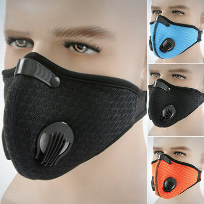 Anti-pollution Face Mask Breathing Air Filter Mouth-muffle Filtration Bicycle