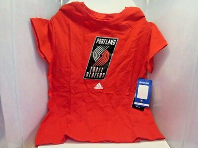 15c5ddee Adidas Youth Kids Size Official NBA Portland Trail Blazers T-Shirt New With  Tags