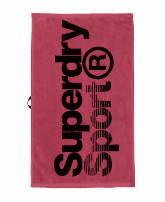 New Mens Superdry Hand Sport Towel Fluro Pink