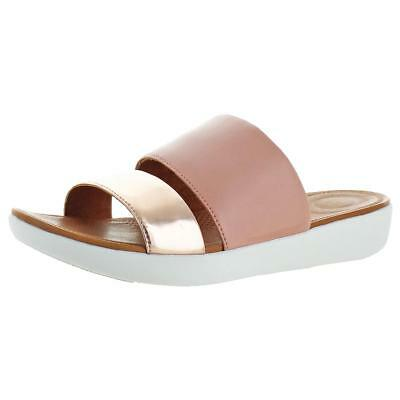 cc3722ac1 FITFLOP WOMENS DELTA SL Leather Double Strap Slide Sandals Shoes ...