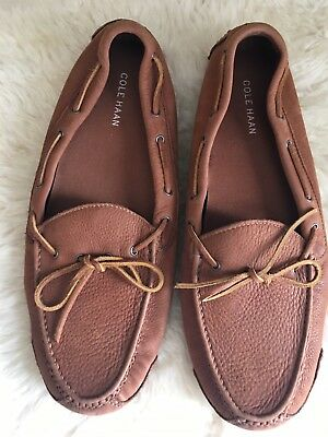 """c19a77a6fd1 COLE HAAN EUC! MENS """"GRANT"""" Soft SUEDE Chestnut Brown DRIVING LOAFERS!"""