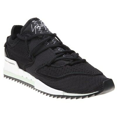 b98c423a0 NEW MENS Y-3 WHITE HARIGANE II TEXTILE Sneakers CHUNKY SNEAKERS ...