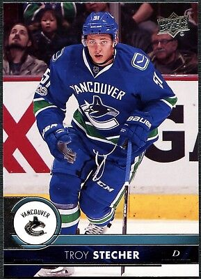 Troy Stecher Vancouver Canucks #182 Upper Deck 2017-18 S1 Ice Hockey Card C2442
