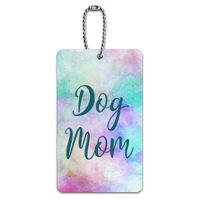 Dog Mom Luggage Card Suitcase Carry-On ID Tag