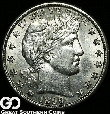 1899-S Barber Half Dollar, Tough Better Date San Francisco Issue, Free Shipping!