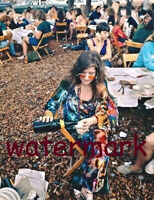 Janis Joplin Drinking at the First Woodstock August 15th, 1969 Publicity Photo