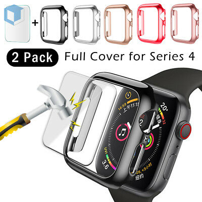 For Apple Watch Series 4 Full Snap On Hard Bumper Case Screen Protector 40 44MM