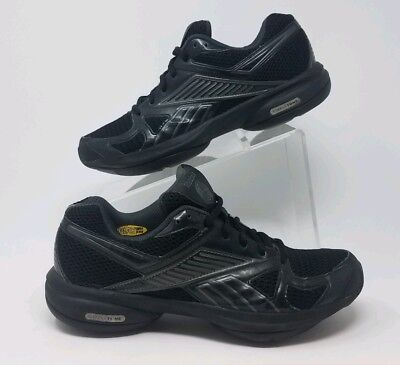 68a8f1b1c99c REEBOK Simply Tone Smooth fit Black Silver Women s Athletic Walking Shoes  ...