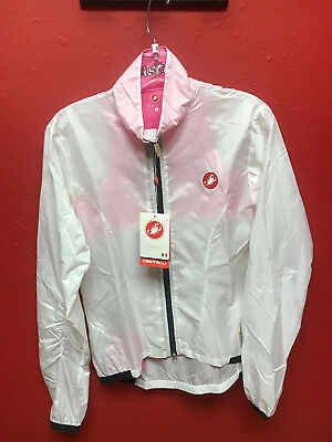 Women s Castelli Rain Jacket Leggera Medium Clear Pink  80 Retail 1436081de
