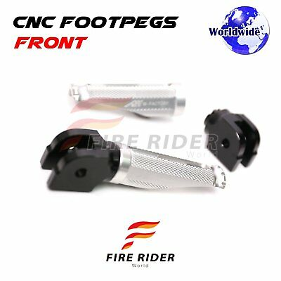 For MV Agusta Brutale All Year Silver CNC Rider Footpegs Footrests