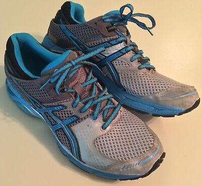 save off 759bf 90e7f ASICS GEL-DS TRAINER 17 Men's Running Shoes, Size 9.5, Blue Gray Black