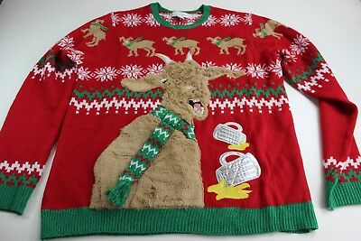 Llama Christmas Sweater.Jolly Sweater Ugly Llama Furry Christmas Sweater Xl Extra Large