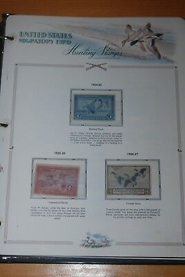Weeda USA 1934-2006 Duck Stamps collection, used & unused on pages & stockpages