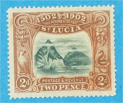 St Lucia 49  Mint Hinged Og *  No Faults Very Fine !