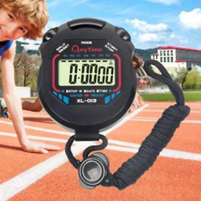 Waterproof Digital LCD Stopwatch Sport Chronograph Counter Timer Watch xza