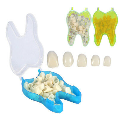 Synthetic Front Teeth Temporary Crowns Resin Tooth Polycarbonate 50pcs/Box