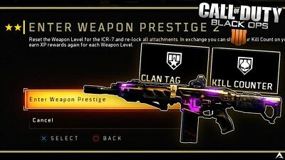 CALL OF DUTY Black Ops 4 (XB1/PS4)Weapon Prestige Recovery(Any Gun but  Launcher)
