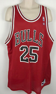 1acc0d9a7 Vtg Champion Steve Kerr  25 Chicago Bulls NBA Basketball Jersey Adult 52  XXL 2XL