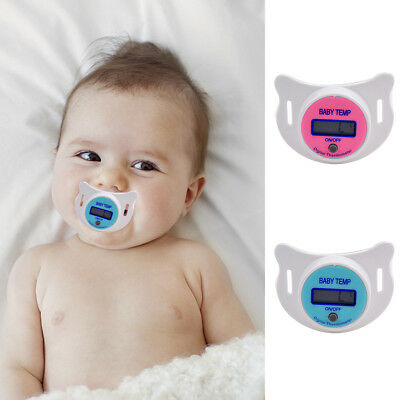 Practical Baby Kid LCD Digital Mouth Nipple Pacifier Thermometer Free Shipping