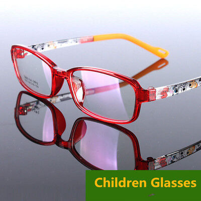 Children Kids Boy Girls TR90 Glasses Cartoon Eyeglass Frame Spectacles Child