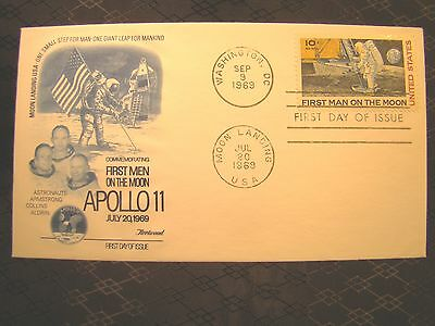 U S Stamp First Day FDC SEP September 9 1969 Apollo 11 Moon Landing Fleetwood