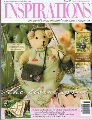 INSPIRATIONS MAGAZINE issue 57 VGC pattern sheets attached