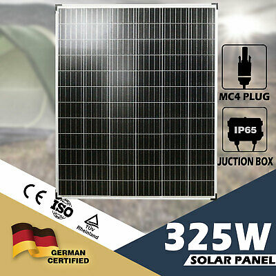 325W Solar Panel 12V Mono Caravan Camping Battery Charge Power MC4 Plug Included