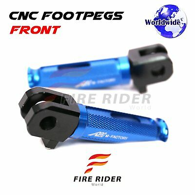 For Honda X-11 CB 1100 SF 1999-2007 Blue CNC Rider Footpegs Footrests