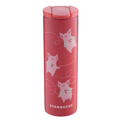 2019 Starbucks Chinese New Year of Pig Luck in Red Stainless Steel Tumbler 16OZ