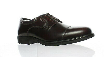 718d9f7dea93fe New Rockport Mens Essential Details Wp Cap Toe Cordovan Oxford Dress Shoe  Size