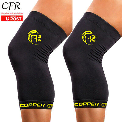 Copper Knee Support Brace Compression Sleeves Sports Running Arthritis Wraps CFR