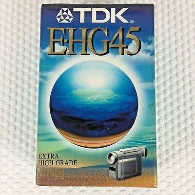 TDK E-HG45 VHS C Extra High Grade PAL SECAM Cassette Tape Brand New and Sealed