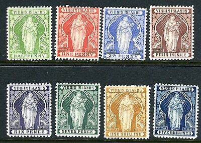 BRITISH VIRGIN ISLANDS-1899  A mounted mint set to 5/- Sg 43-50