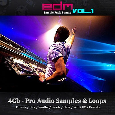 EDM - Huge 4Gb, Loops, Drums, Hits, Synth, Bass, Leads, Sample Pack Bundle Vol.1