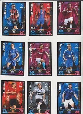 MATCH ATTAX 2018/9 Trading Base Card CHOOSE YOUR OWN Arsenal Chelsea Man Utd