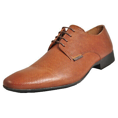 Red Tape London Men's Classic Casual Leather Formal Dress Shoes Tan