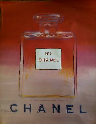 Poster Chanel N° 5  Andy Warhol  1997