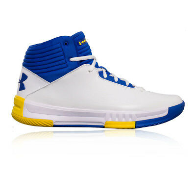 Under Armour Hommes Lockdown 2 Basketball Chaussures De Sport Baskets Blanc