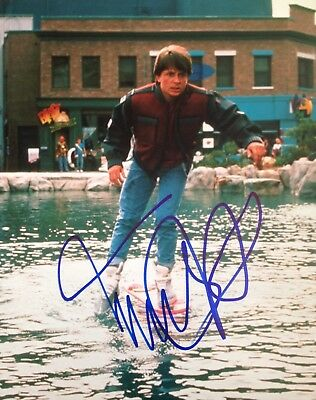Michael J Fox Signed 10X8 Back To The Future Photo Aftal#198