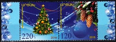 ARMENIA ARTSAKH / KARABAKH 2018-11 Christmas and New Year. PAIR, MNH