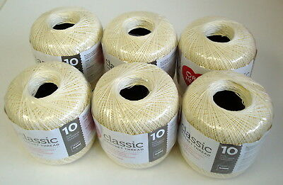 Red Heart Crochet Thread Cotton Size 5 Gold Lot Sale 6 Skeins New