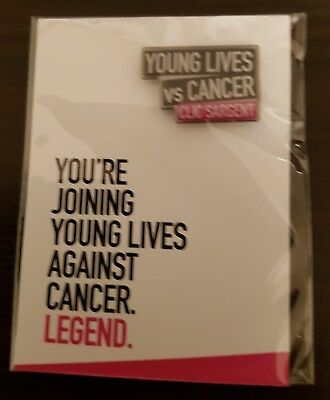 "Brand New & Sealed ""YOUNG LIVES VS CANCER"" UK Pin Badge - (SAME DAY DISPATCH !!)"