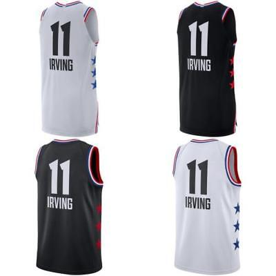 separation shoes 84bac d6bd9 NEW 2019 ALL Star Games Kyrie Irving White black basketball Jersey Custom  Name S