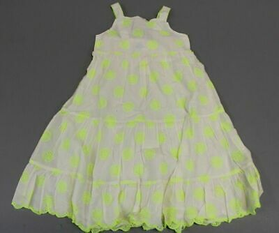 Mini Boden Girl's Sleeveless Embroidered Circle Dress SI4 White Size 11-12Y NWT