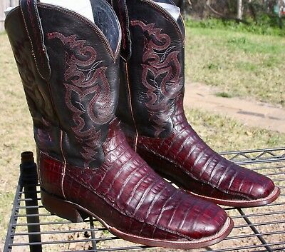 25d3e70f031 LUCCHESE HERITAGE BLACK Cherry Calf Leather Cowboy Western Mens ...