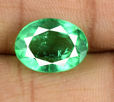 Muzo Colombian Emerald 100% Natural 5-6 Ct Transparent Oval Cut AGSL Certified