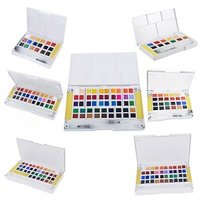 1X(Superior Pigment Solid Watercolor Paints Set Colored Pencils For Drawing E4M6
